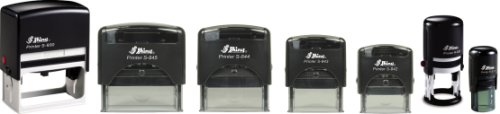 The Shiny self-inking stamp is amazing! It's economical, re-inkable with water based ink, and comes in a wide variety of sizes to choose from.  Customize your stamp with us today!