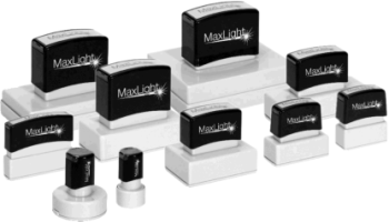 MaxLight stamps provide a clear crisp impression every time you use it.  It's the premium flash stamp on the market today.
