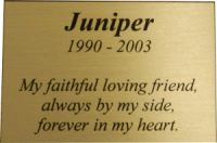 PMG2X3 - Large Gold Memorial Plaque