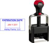 "SHN 6104/2 - Heavy duty metal Shiny 6104 2-Color 1"" x 2-1/8"""
