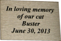 PMX2X3 - Large Silver Memorial Plaque