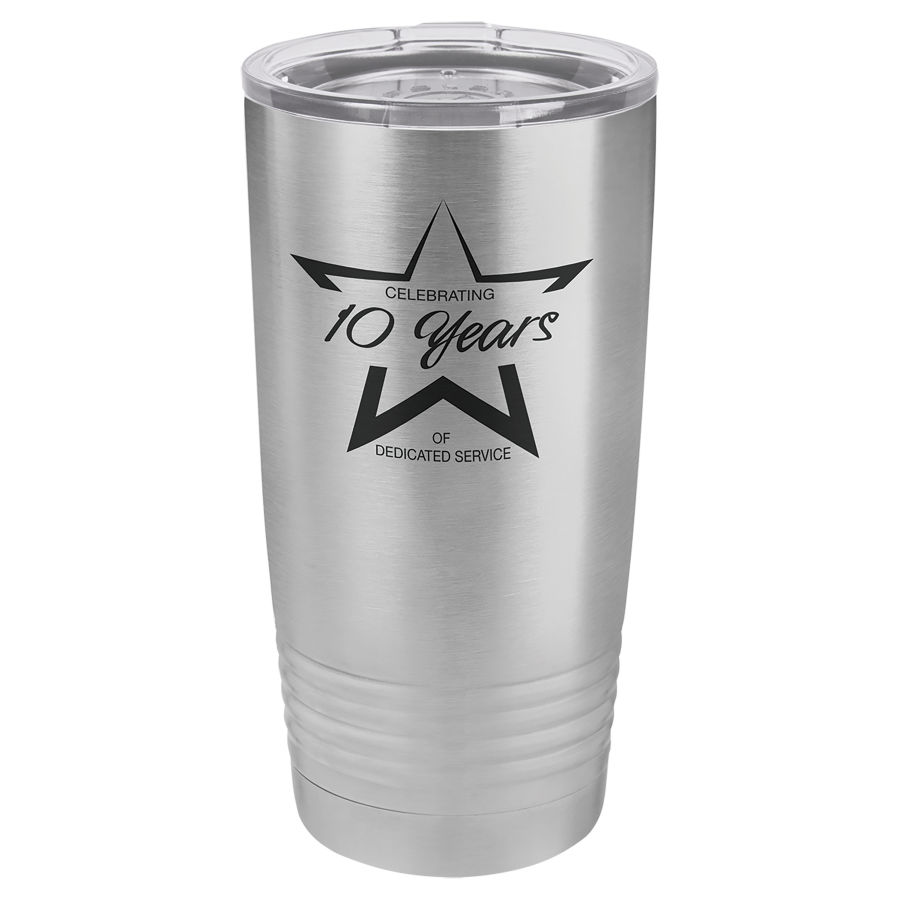 20 oz Stainless Steel Polar Camel insulated tumbler.  Customizable with your personal image or saying.