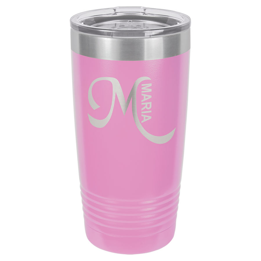 20 oz Light Puple Powder coated Stainless Steel Polar Camel insulated tumbler.  Customizable with your personal image or saying.