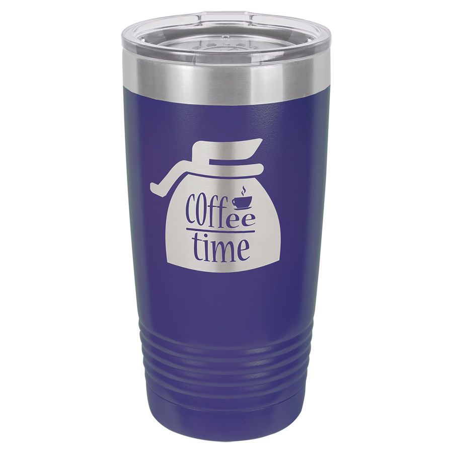 20 oz Puple Powder coated Stainless Steel Polar Camel insulated tumbler.  Customizable with your personal image or saying.