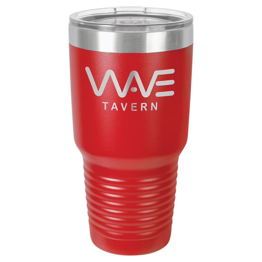 30 oz Red Polar Camel insulated tumbler.  Customizable with your personal image or saying.