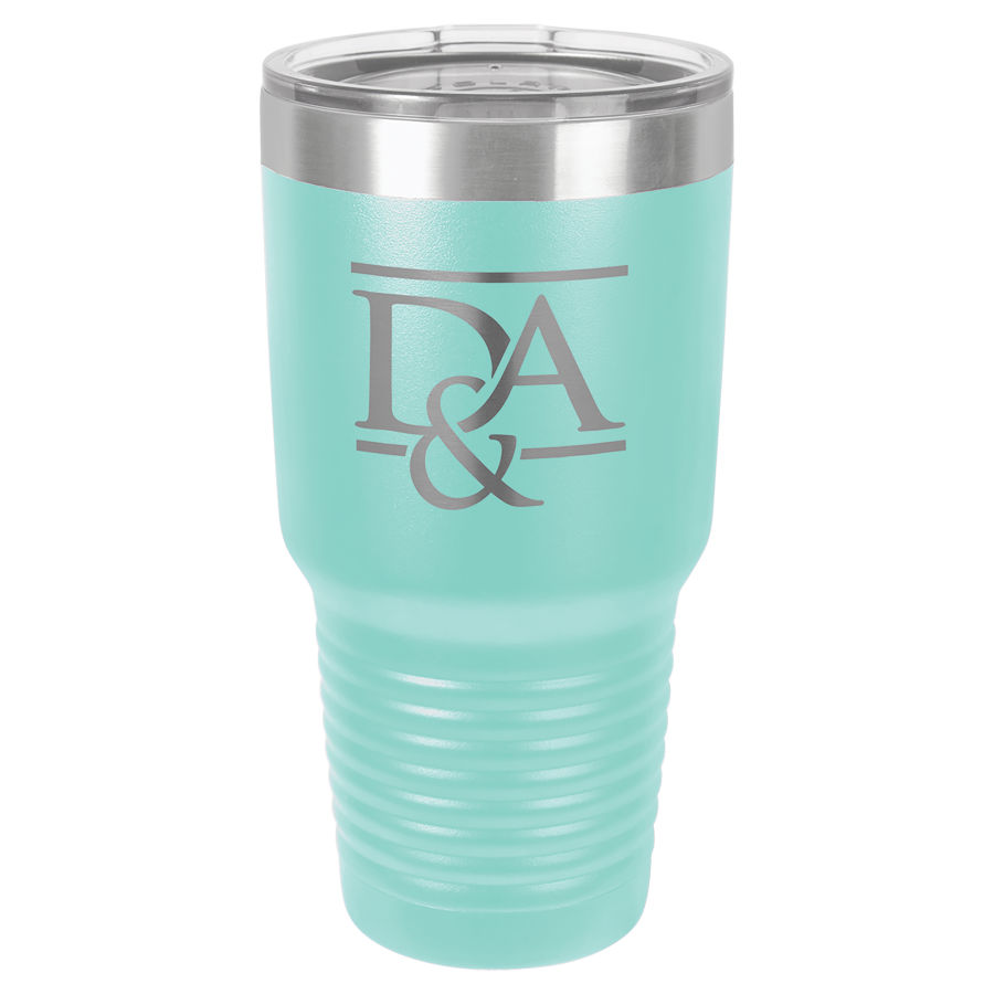30 oz Teal Polar Camel insulated tumbler.  Customizable with your personal image or saying.