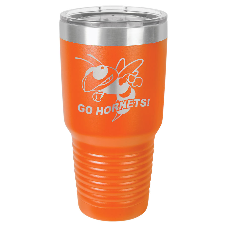 30 oz. Orange Polar Camel insulated tumbler.  Customizable with your personal image or saying.