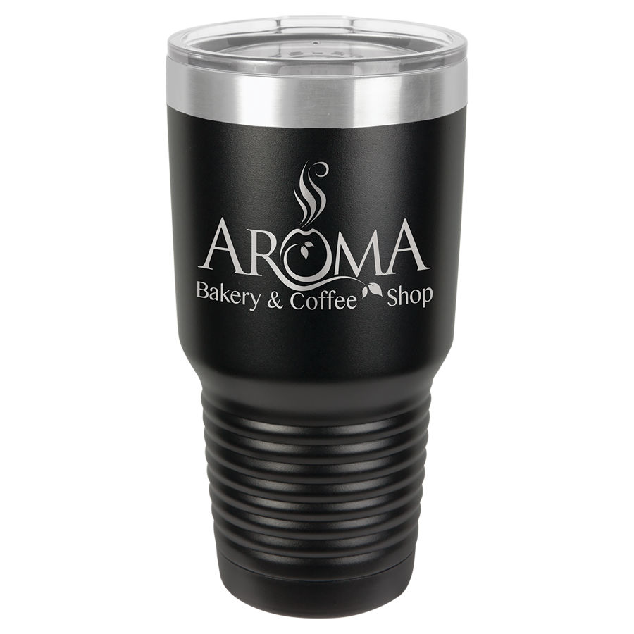30 oz Black Polar Camel insulated tumbler.  Customizable with your personal image or saying.