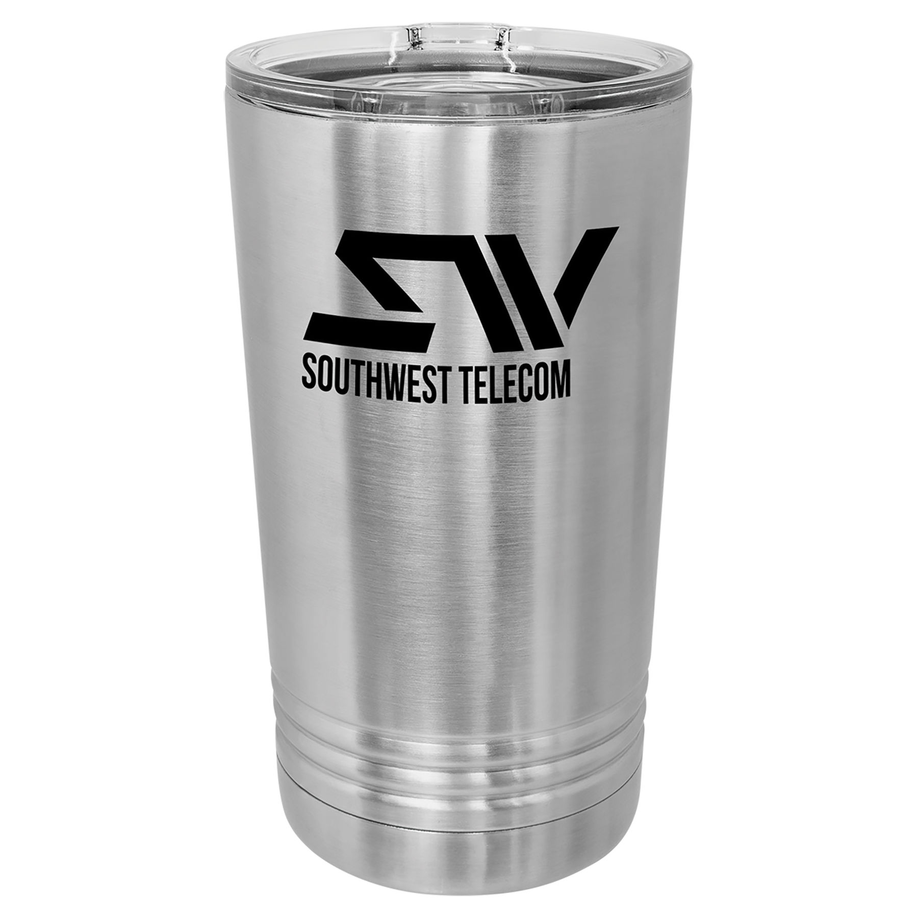 16 oz. Stainless Steel Polar Camel Pint with Slider Lid.  Customizable with your personal image or saying.