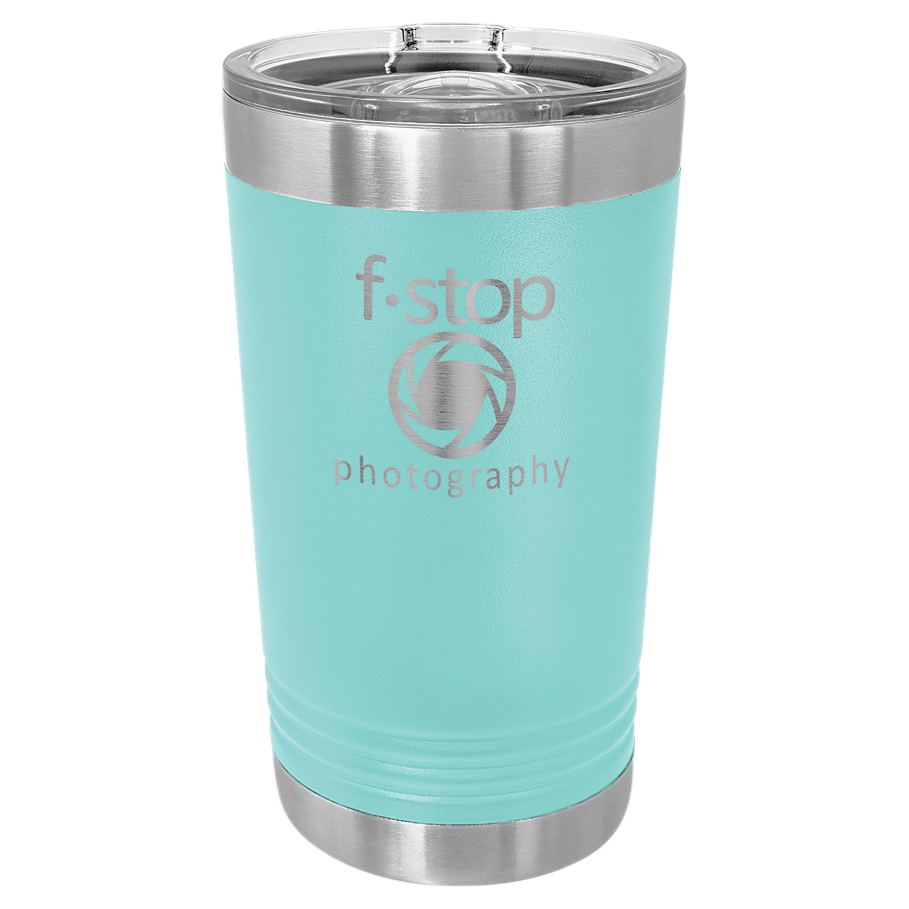 16 oz. Teal Stainless Steel Polar Camel Pint with Slider Lid.  Customizable with your personal image or saying.