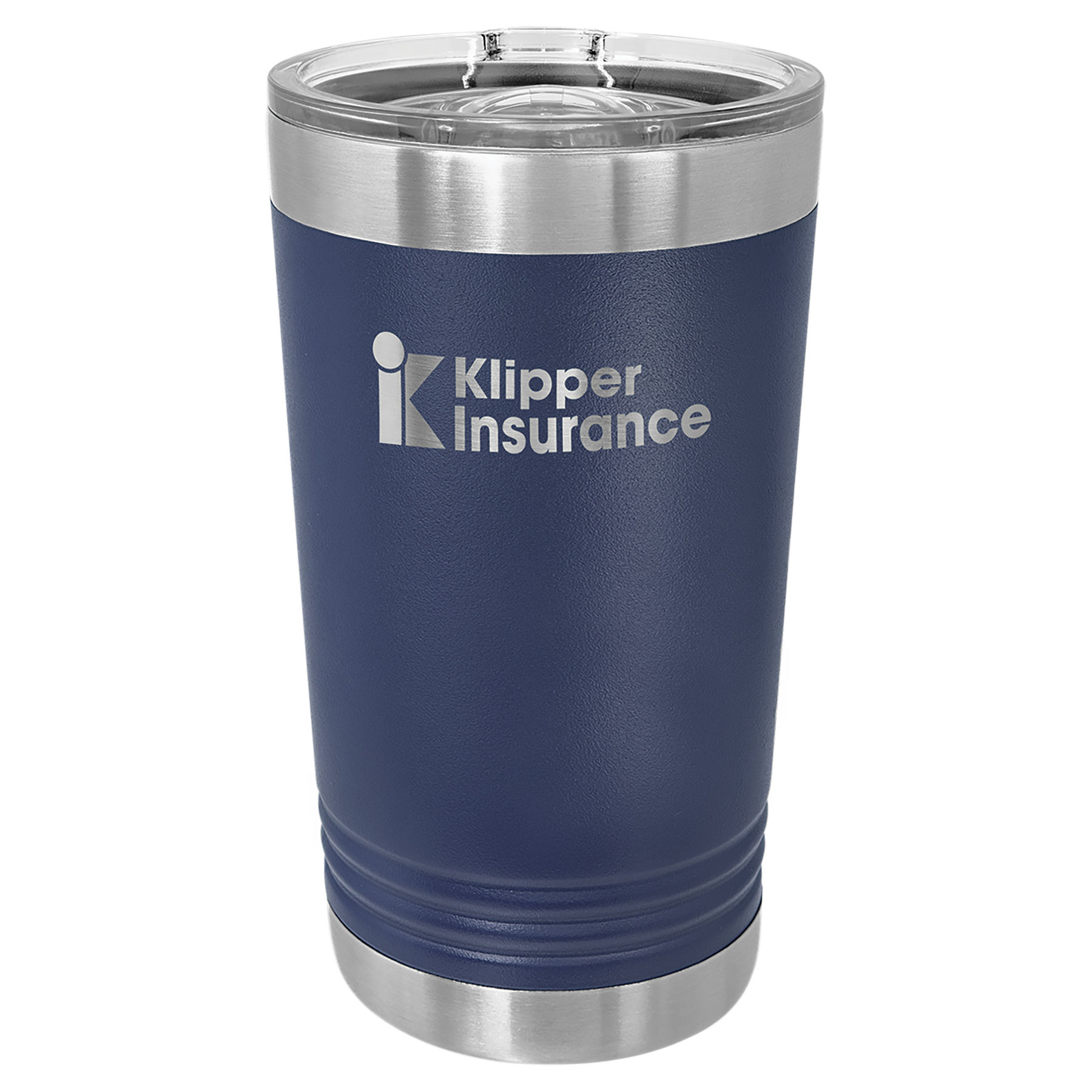 16 oz. Navy Blue Stainless Steel Polar Camel Pint with Slider Lid.  Customizable with your personal image or saying.