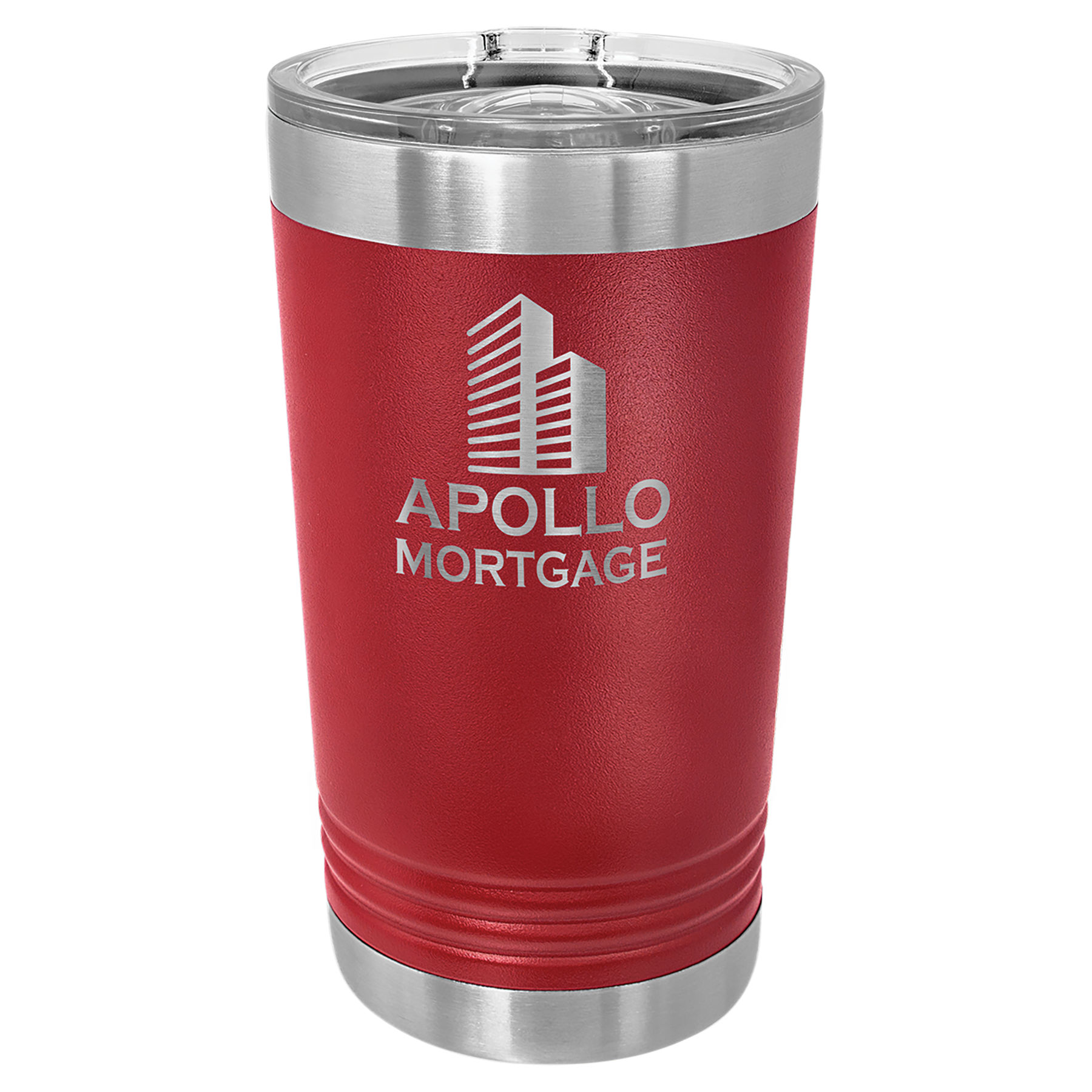 16 oz. Maroon Stainless Steel Polar Camel Pint with Slider Lid.  Customizable with your personal image or saying.