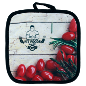 Customize this quilted pot holder with your company logo or personal saying.  Makes a great gift for anyone who loves to cook or bake.