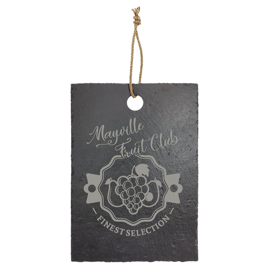 """Customize this 9-3/4"""" x 13-3/4"""" laser engraved slate with your company logo or personal saying."""