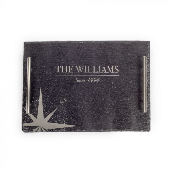 """Customize this 13.78"""" X 9.84"""" Slate Serving Tray with your company logo or personal saying."""