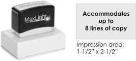 MaxLight XL2-165 pre-inked flash custom stamp