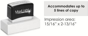MaxLight XL2-185 pre-inked flash custom stamp