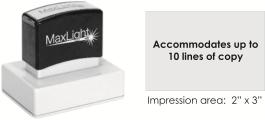 MaxLight XL2-225 pre-inked flash custom stamp
