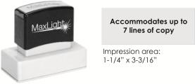 MaxLight XL2-245 pre-inked flash custom stamp
