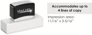 MaxLight XL2-265 pre-inked flash custom stamp