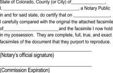 Notary acknowledgment for Certification of Photocopy, Certification of Photocopy, certification, acknowledgment, corporation, Notary acknowledgment, acknowledgment, acknowledgment stamp