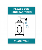 """Petersen Specialty - 5.875"""" x 7.875"""" wall sign """"Please Use Hand Sanitizer"""" for COVID-19 sanitation guidelines.This and more ready-made coronavirus guideline signs available now. Order Today!"""