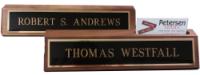 Wood Desk Base Nameplates